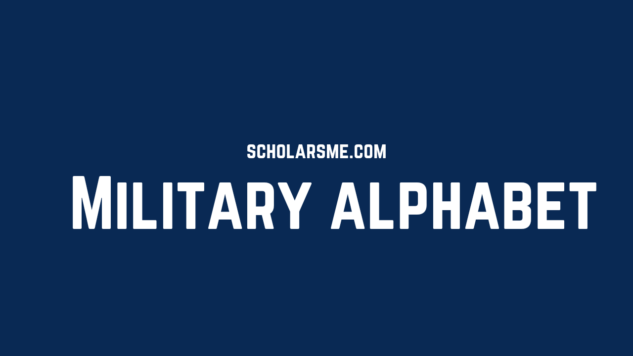 Read more about the article Military Alphabet