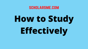 Read more about the article How to Study Effectively